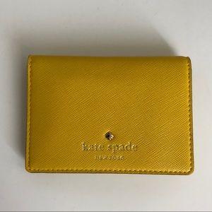 Kate Spade Card Holder Wallet - Yellow
